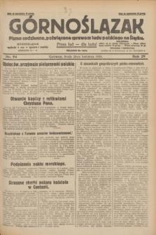 Górnoślązak : pismo codzienne, poświęcone sprawom ludu polskiego na Śląsku.R.29, nr 94 (23 kwietnia 1930) + dod.