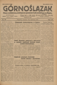 Górnoślązak : pismo codzienne, poświęcone sprawom ludu polskiego na Śląsku.R.29, nr 95 (24 kwietnia 1930) + dod.
