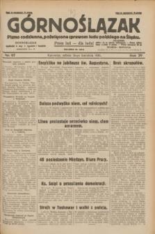 Górnoślązak : pismo codzienne, poświęcone sprawom ludu polskiego na Śląsku.R.29, nr 97 (26 kwietnia 1930) + dod.