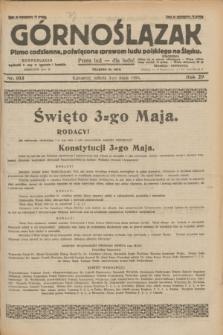 Górnoślązak : pismo codzienne, poświęcone sprawom ludu polskiego na Śląsku.R.29, nr 103 (3 maja 1930) + dod.