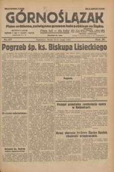 Górnoślązak : pismo codzienne, poświęcone sprawom ludu polskiego na Śląsku.R.29, nr 117 (21 maja 1930) + dod.