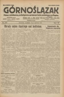 Górnoślązak : pismo codzienne, poświęcone sprawom ludu polskiego na Śląsku.R.29, nr 142 (22 czerwca 1930) + dod.