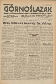 Górnoślązak : pismo codzienne, poświęcone sprawom ludu polskiego na Śląsku.R.29, nr 143 (24 czerwca 1930) + dod.