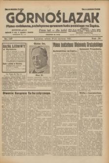 Górnoślązak : pismo codzienne, poświęcone sprawom ludu polskiego na Śląsku.R.29, nr 147 (28 czerwca 1930) + dod.