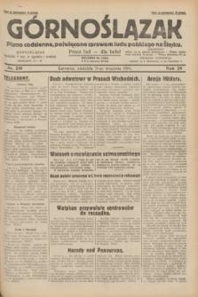 Górnoślązak : pismo codzienne, poświęcone sprawom ludu polskiego na Śląsku.R.29, nr 219 (21 września 1930)
