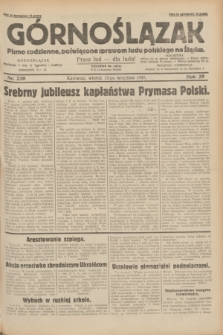 Górnoślązak : pismo codzienne, poświęcone sprawom ludu polskiego na Śląsku.R.29, nr 220 (23 września 1930)