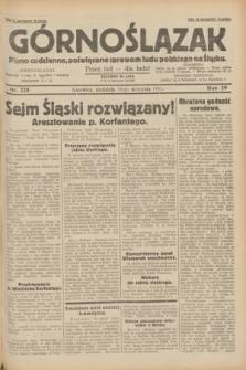 Górnoślązak : pismo codzienne, poświęcone sprawom ludu polskiego na Śląsku.R.29, nr 225 (28 września 1930)