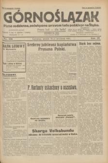 Górnoślązak : pismo codzienne, poświęcone sprawom ludu polskiego na Śląsku.R.29, nr 226 (30 września 1930)