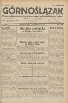 Górnoślązak : pismo codzienne, poświęcone sprawom ludu polskiego na Śląsku.R.29, nr 227 (1 października 1930)