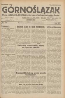 Górnoślązak : pismo codzienne, poświęcone sprawom ludu polskiego na Śląsku.R.29, nr 228 (2 października 1930)