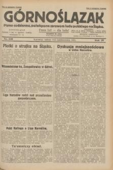 Górnoślązak : pismo codzienne, poświęcone sprawom ludu polskiego na Śląsku.R.29, nr 230 (4 października 1930)