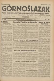 Górnoślązak : pismo codzienne, poświęcone sprawom ludu polskiego na Śląsku.R.29, nr 233 (8 października 1930)