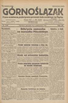 Górnoślązak : pismo codzienne, poświęcone sprawom ludu polskiego na Śląsku.R.29, nr 240 (16 października 1930)