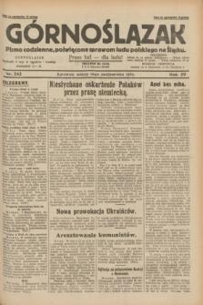 Górnoślązak : pismo codzienne, poświęcone sprawom ludu polskiego na Śląsku.R.29, nr 242 (18 października 1930) + dod.
