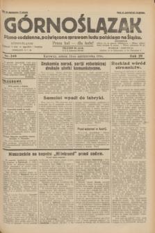 Górnoślązak : pismo codzienne, poświęcone sprawom ludu polskiego na Śląsku.R.29, nr 248 (25 października 1930) + dod.
