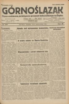 Górnoślązak : pismo codzienne, poświęcone sprawom ludu polskiego na Śląsku.R.29, nr 249 (26 października 1930) + dod.
