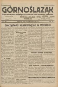 Górnoślązak : pismo codzienne, poświęcone sprawom ludu polskiego na Śląsku.R.29, nr 251 (29 października 1930) + dod.