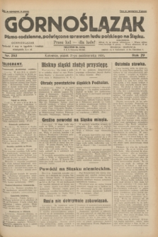 Górnoślązak : pismo codzienne, poświęcone sprawom ludu polskiego na Śląsku.R.29, nr 253 (31 października 1930) + dod.