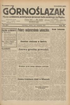 Górnoślązak : pismo codzienne, poświęcone sprawom ludu polskiego na Śląsku.R.29, nr 254 (1 listopada 1930)