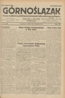 Górnoślązak : pismo codzienne, poświęcone sprawom ludu polskiego na Śląsku.R.29, nr 255 (4 listopada 1930) + dod.