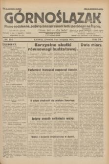 Górnoślązak : pismo codzienne, poświęcone sprawom ludu polskiego na Śląsku.R.29, nr 257 (6 listopada 1930)