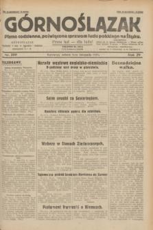 Górnoślązak : pismo codzienne, poświęcone sprawom ludu polskiego na Śląsku.R.29, nr 259 (8 listopada 1930) + dod.