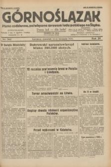 Górnoślązak : pismo codzienne, poświęcone sprawom ludu polskiego na Śląsku.R.29, nr 263 (13 listopada 1930)