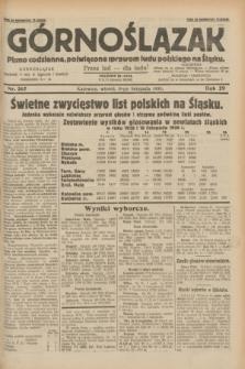 Górnoślązak : pismo codzienne, poświęcone sprawom ludu polskiego na Śląsku.R.29, nr 267 (18 listopada 1930)