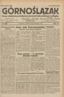 Górnoślązak : pismo codzienne, poświęcone sprawom ludu polskiego na Śląsku.R.29, nr 269 (20 listopada 1930)