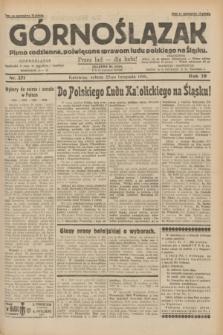 Górnoślązak : pismo codzienne, poświęcone sprawom ludu polskiego na Śląsku.R.29, nr 271 (22 listopada 1930)