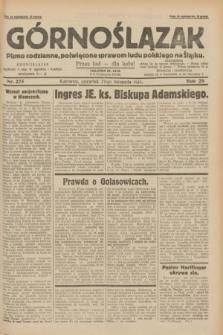 Górnoślązak : pismo codzienne, poświęcone sprawom ludu polskiego na Śląsku.R.29, nr 275 (27 listopada 1930) + dod.