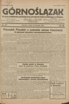 Górnoślązak : pismo codzienne, poświęcone sprawom ludu polskiego na Śląsku.R.29, nr 277 (29 listopada 1930)