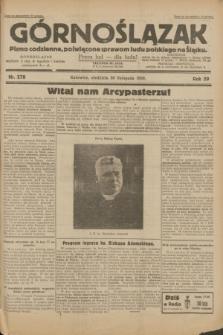 Górnoślązak : pismo codzienne, poświęcone sprawom ludu polskiego na Śląsku.R.29, nr 278 (30 listopada 1930) + dod.