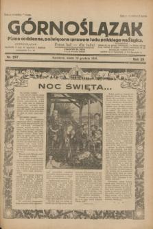 Górnoślązak : pismo codzienne, poświęcone sprawom ludu polskiego na Śląsku.R.29, nr 297 (24 grudnia 1930)