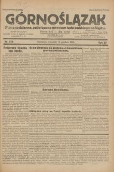 Górnoślązak : pismo codzienne, poświęcone sprawom ludu polskiego na Śląsku.R.29, nr 298 (25 grudnia 1930) + dod.