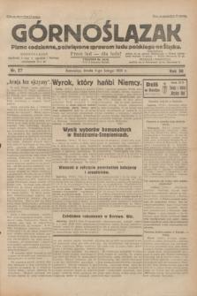 Górnoślązak : pismo codzienne, poświęcone sprawom ludu polskiego na Śląsku.R.30, nr 27 (4 lutego 1931)