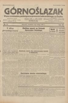 Górnoślązak : pismo codzienne, poświęcone sprawom ludu polskiego na Śląsku.R.30, nr 31 (8 lutego 1931)