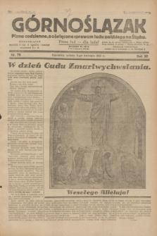 Górnoślązak : pismo codzienne, poświęcone sprawom ludu polskiego na Śląsku.R.30, nr 78 (4 kwietnia 1931)