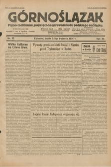 Górnoślązak : pismo codzienne, poświęcone sprawom ludu polskiego na Śląsku.R.30, nr 92 (22 kwietnia 1931)