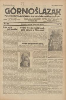 Górnoślązak : pismo codzienne, poświęcone sprawom ludu polskiego na Śląsku.R.30, nr 112 (16 maja 1931)