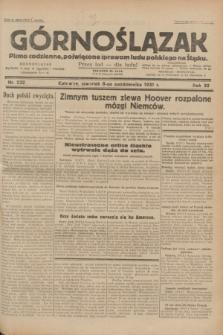 Górnoślązak : pismo codzienne, poświęcone sprawom ludu polskiego na Śląsku.R.30, nr 232 (8 października 1931)