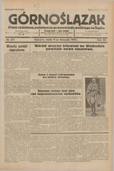 Górnoślązak : pismo codzienne, poświęcone sprawom ludu polskiego na Śląsku.R.30, nr 261 (11 listopada 1931)