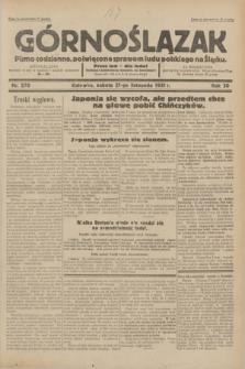 Górnoślązak : pismo codzienne, poświęcone sprawom ludu polskiego na Śląsku.R.30, nr 270 (21 listopada 1931)