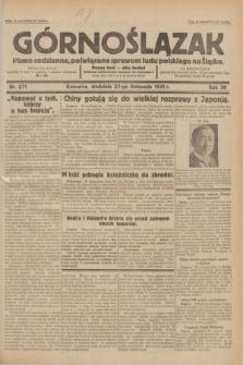 Górnoślązak : pismo codzienne, poświęcone sprawom ludu polskiego na Śląsku.R.30, nr 271 (22 listopada 1931)