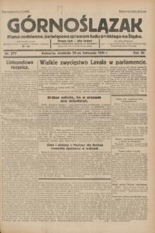 Górnoślązak : pismo codzienne, poświęcone sprawom ludu polskiego na Śląsku.R.30, nr 277 (29 listopada 1931)