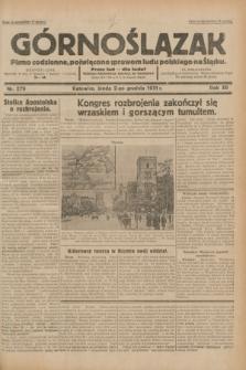 Górnoślązak : pismo codzienne, poświęcone sprawom ludu polskiego na Śląsku.R.30, nr 279 (2 grudnia 1931)