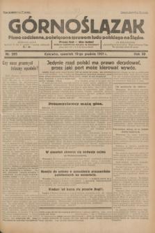Górnoślązak : pismo codzienne, poświęcone sprawom ludu polskiego na Śląsku.R.30, nr 285 (10 grudnia 1931)