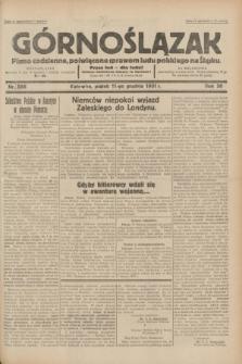 Górnoślązak : pismo codzienne, poświęcone sprawom ludu polskiego na Śląsku.R.30, nr 286 (11 grudnia 1931)