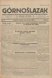 Górnoślązak : pismo codzienne, poświęcone sprawom ludu polskiego na Śląsku.R.31, nr 11 (14 stycznia 1932)