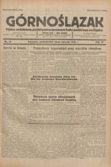 Górnoślązak : pismo codzienne, poświęcone sprawom ludu polskiego na Śląsku.R.31, nr 14 (18 stycznia 1932)